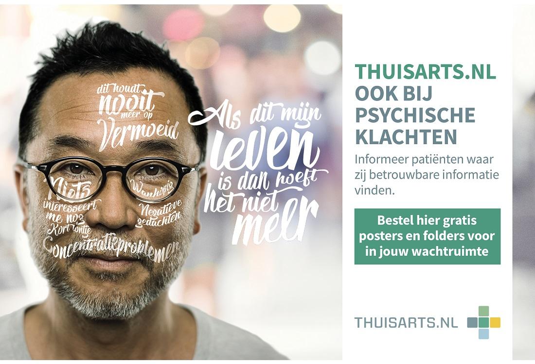 Thuisarts.nl ook te raadplegen bij psychische klachten