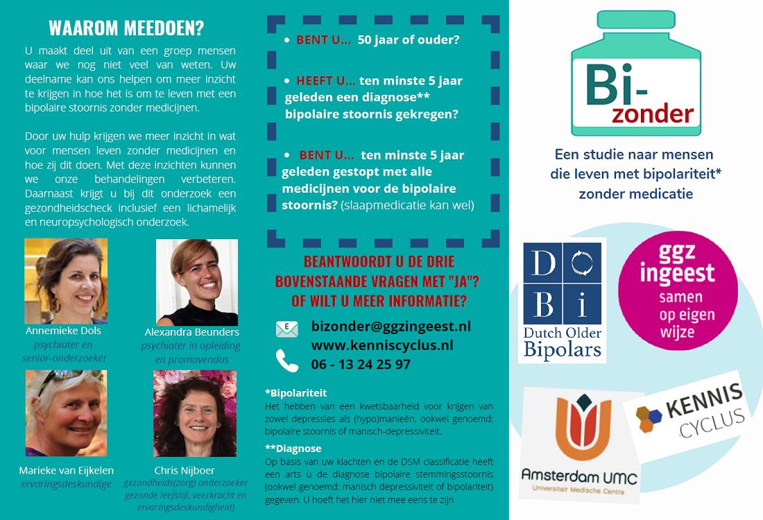 Deelnemers gezocht voor studie bipolaire stoornis zonder medicatie